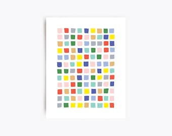Geometric Art Print - Blocks - 11x14 Print
