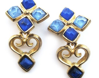 Vintage clip on earrings by Veronique Cheranich
