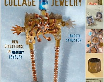 Mixed Media Collage Jewelry Book by Janette Schuster