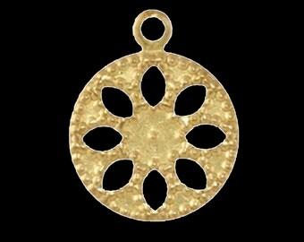 600 pcs 13 mm raw brass circle,raw brass charms ,raw brass findings 131R-240