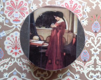 """John William Waterhouse """"The Crystal Ball"""" Collage Trinket Box by Pepperland"""