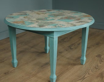 Unique Annie Sloan Shabby Chic Painted Coffee Table decoupage Tabletop
