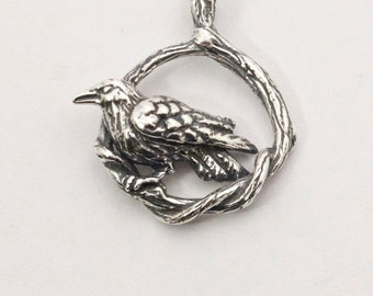 Raven Bramble Pendant - Handmade in 14k Gold or Sterling Silver
