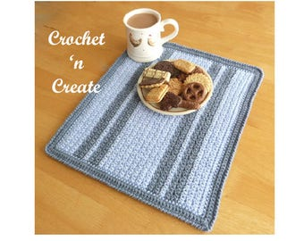 Grit Stitch Placemat Crochet Pattern (DOWNLOAD) CNC29
