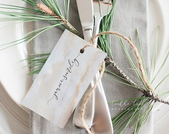 Grey Colour Wash & Rose Gold - Hang Tags