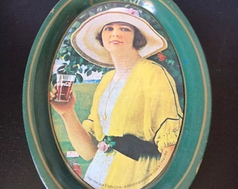 Rare Vintage CANADIAN COCA COLA - Tip Tray French Made In U.S.A