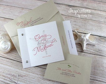 Wedding Invitations, Booklet Invitations, Destination Wedding