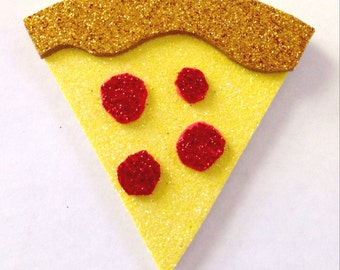 Pizza Party Hair Clip