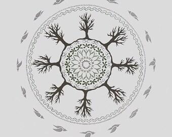 Winter's Reason - 11 x 14 inch Cut Paper Art Print