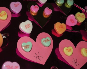 Conversation Heart Earrings