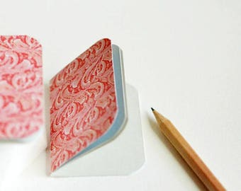 Mini Blank Books {3} Red   Mini Notebooks   Little Red Books   Gift under 10   Gift for Her   Paper Lover Gift   Mothers Day Gift