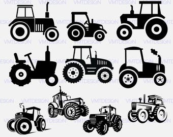 Tractor svg - Tractor Silhouette - Tractor Clipart -  Tractor digital clipart for Design or more, files download svg, eps, jpg, png