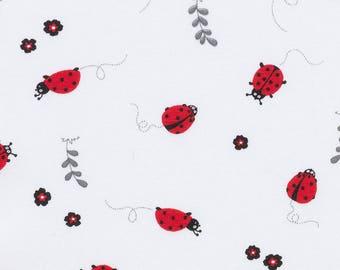 Ladybug fabric, tricot. SK191