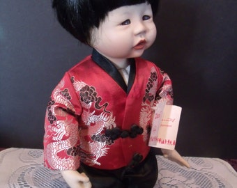 CHEN Collector Porcelain Doll by Edwin Knowles, 1989, (# 695/wb)