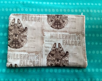 Millennium falcon star wars han solo small make up bag