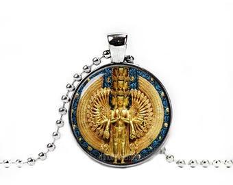 Avalokiteshvara Necklace Bodhisattva Pendant Compassionate and merciful 1000 arms Buddhist Necklace Buddhist Jewelry