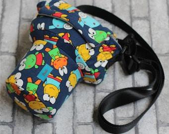 Cute Frog DSLR camera bag Custom name digital camera backpack carry On Bag DSLR camera case SLR camera bag