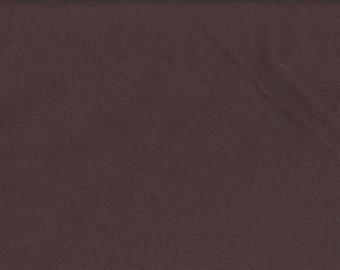 Jersey Interlock fabric brown organic cotton