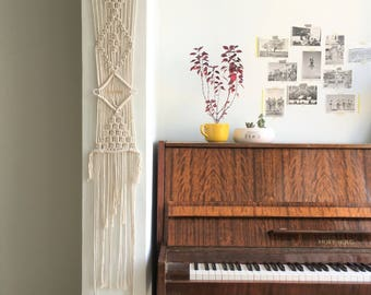 Wall tapestry, Macrame Wall Hanging, Macrame Tapestry, Modern Macrame, Weaving wall hanging, Wall Art, Boho Wall Hanging, boho art, gold