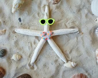 Starfish Ornament, Coastal Decor, Starfish Bathing