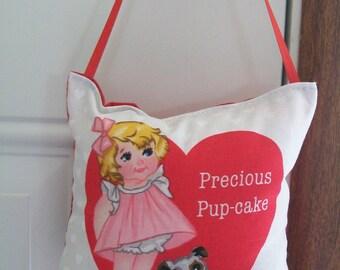Valentines Door Hanger - Precious Pup Cake