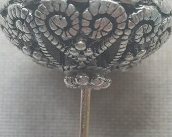 Round Filigree beaded hat pin