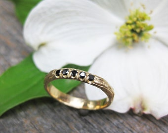 pave diamond wedding band Thinnest PLYWOOD 3mm 14kt yellow gold womens ring