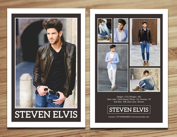 Model Comp Card Template Modeling Comp Card Fashion Card - Model comp card template