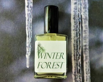 Winter Forest Cologne Oil or Mist  1/2 oz. Fresh Forest Fragrance, Woodsy Cologne, Woodsy Perfume, Wilderness Cologne, Wilderness Perfume