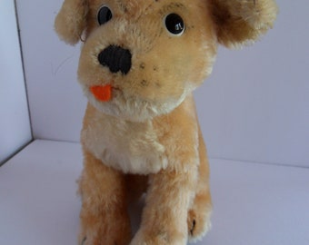 Steiff dog Mops bulldog button mohair made in Germany 2522
