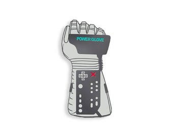 Power Glove Enamel Pin