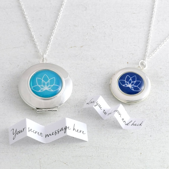Personalised Lotus Locket