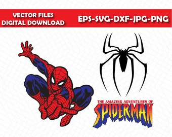 Spiderman vector etsy studio spiderman svg spiderman clipart silhouette spiderman spiderman superhero file spiderman eps raster vector files spiderman eps stopboris Image collections