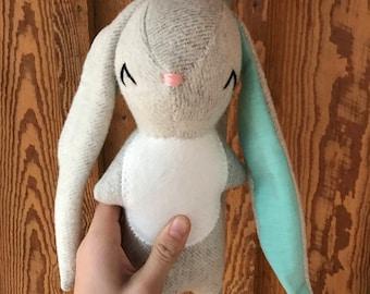 Emma the Rabbit, organic rabbit, rabbit, stuffed rabbit, organic toy, stuffed bunny, stuffed animal, velveteen rabbit, organic, bunny