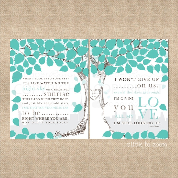 Alternative Wedding Songs: Wedding Guest Book Alternative Wedding Guestbook Wedding