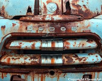 Rustic Home Decor, Old Truck Photo, Rustic Wall Art, Rustic Decor