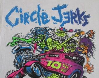 CIRCLE JERKS 1990 tour T SHIRT rat fink