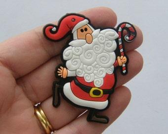2 Father Christmas pendants 67 x 51mm