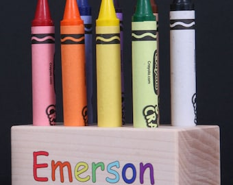 Jumbo Crayon Holder - Personalized