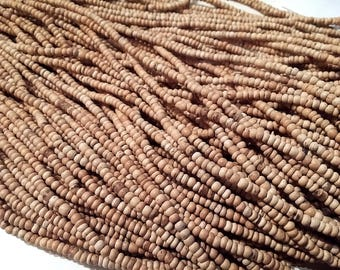 Tiny natural coconut beads 2-3mm