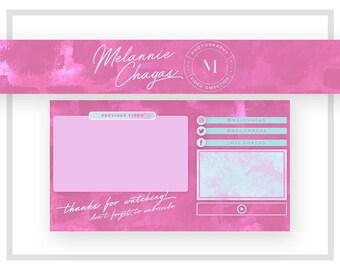Youtube Banner Design | Youtube Endcard Design | Pink Youtube Channel Art | Youtube Channel Banner | Youtube Logo Design | Pink Teal Logo