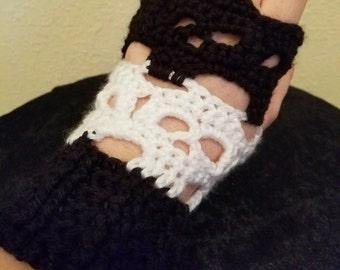 Skull Fingerless Gloves (Made to Order)