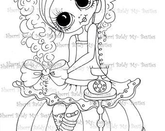 INSTANT DOWNLOAD Digi Stamps Big Eye Big Head Dolls Digi Bestie IMG119 By Sherri Baldy