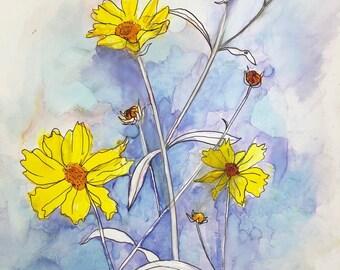 Pretty Little Weeds : Fine Art Greeting Card