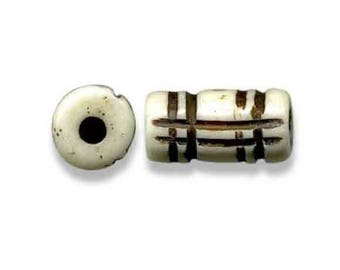 Traditional handcrafted bone bead tube 14 * 7mm