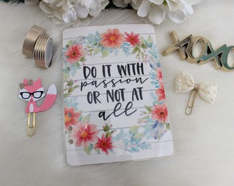 A5 Dashboard, Do It With Passion, Planner Dashboard, Planner Supplies