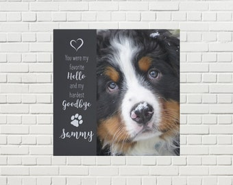Pet Memorial Canvas 03FHHG - Pet Photo Canvas - Dog Canvas - Pet Memorial - Pet Portrait  - Custom Photo Canvas - Dog Memorial - Pet Loss