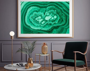 Mineral Photography - (Print # 152)  Malachite   - Fine Art Print - Two Paper Choices- Mineral Geode Agate Crystal Decor