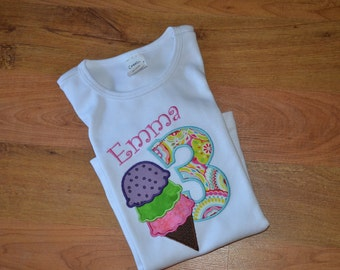 Ice Cream Birthday Shirt