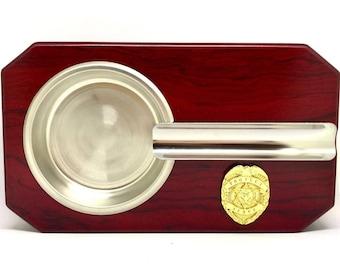 Law Enforcement Cigar Ashtray – Gold